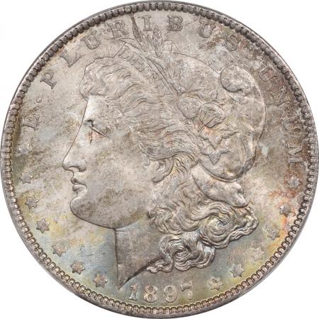Morgan Dollars 1897 MORGAN DOLLAR PCGS MS-66
