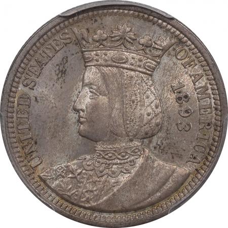 Silver 1893 25C ISABELLA SILVER COMMEMORATIVE PCGS MS-65