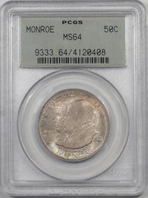 Silver 1923 MONROE COMMEMORATIVE HALF DOLLAR PCGS MS-64