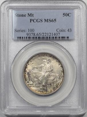 Silver 1925 STONE MOUNTAIN COMMEMORATIVE HALF DOLLAR PCGS MS-65