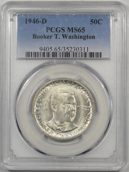 Silver 1946-D BTW COMMEMORATIVE HALF DOLLAR PCGS MS-65