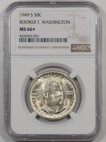 Silver 1949-S BTW COMMEMORATIVE HALF DOLLAR NGC MS-66+