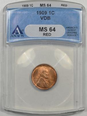 1909-VDB-1C-ANACS-MS64RD-279-1