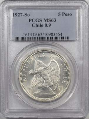 1927SO-CHILE-5P-PCGS-MS63-454-1