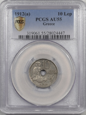 1912a-GREECE-10LEP-PCGS-AU55-447-1