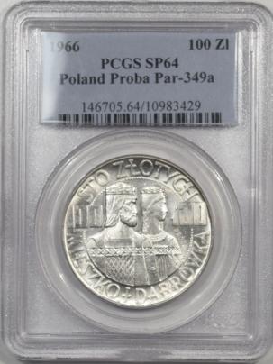 1966-POLAND-100ZL-PROBA-PAR349a-PCGS-SP64-429-1
