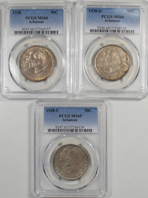 1938-PDS-ARKANSAS-50C-PCGS-MS66-LOT3-157-1