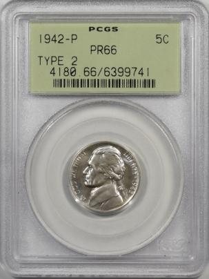 1942p-TYII-5C-PCGS-PR66-741-1
