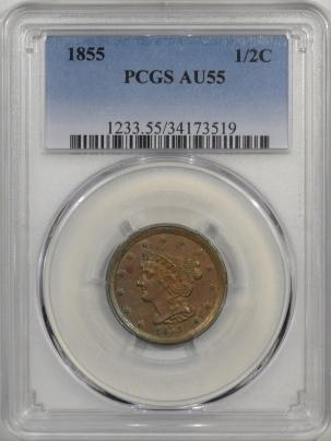 1855-H1C-PCGS-AU55-519-1
