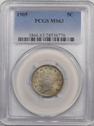 Liberty Nickels 1905 LIBERTY NICKEL PCGS MS-63