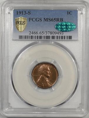 1913s-1C-PCGS-MS65RB-CAC-493-1