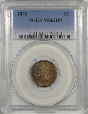 1875-1C-PCGS-MS62BN-813-1