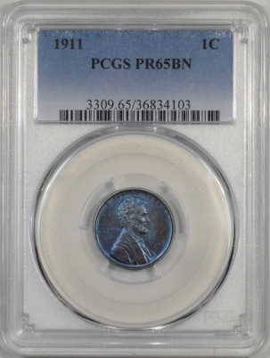 Lincoln Cents (Wheat) 1911 PROOF LINCOLN CENT PCGS PR-65 BN