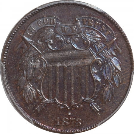 Two Cent Pieces 1873 PROOF TWO CENT PIECE – CLOSED 3 PCGS PR-65 BN PRETTY & PREMIUM QUALITY!