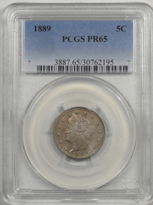 Liberty Nickels 1889 LIBERTY NICKEL PCGS PR-65