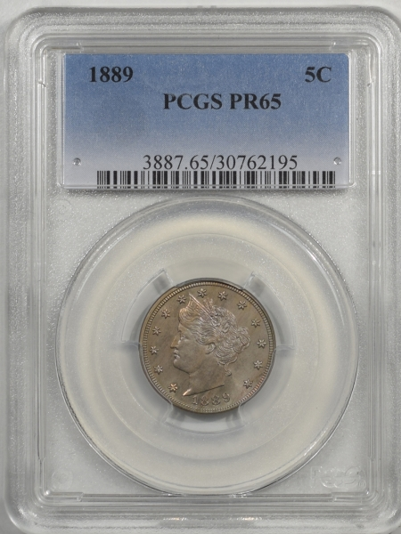 Liberty Nickels 1889 LIBERTY NICKEL PCGS PR-65