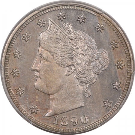 Liberty Nickels 1890 PROOF LIBERTY NICKEL PCGS PR-64