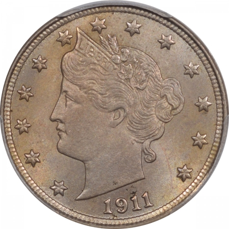Liberty Nickels 1911 LIBERTY NICKEL PCGS MS-64+