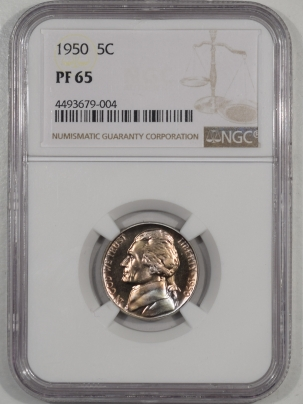 Jefferson Nickels 1950 PROOF JEFFERSON NICKEL NGC PF-65