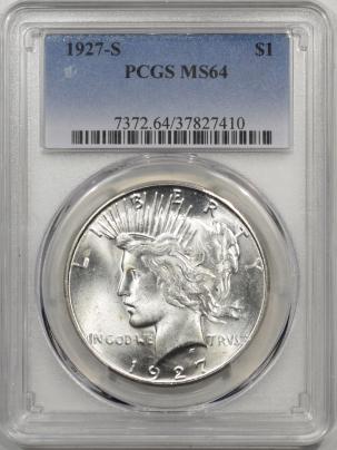 1927s-$1-PCGS-MS64-410-1
