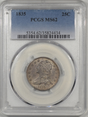 Coin World/Numismatic News Featured Coins 1835 CAPPED BUST QUARTER PCGS MS-62