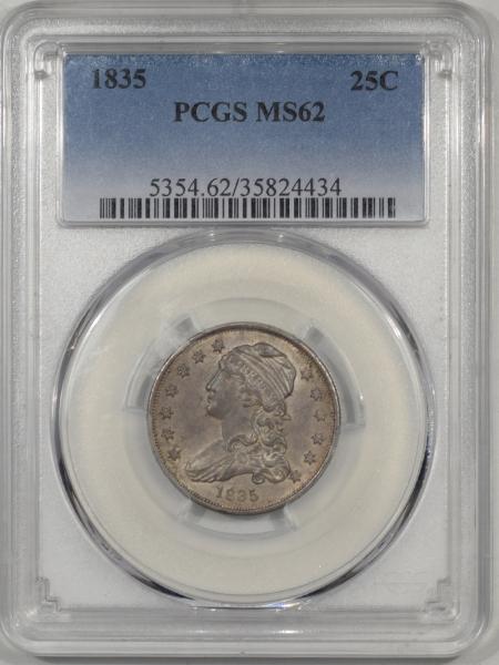 Capped Bust Quarters 1835 CAPPED BUST QUARTER PCGS MS-62