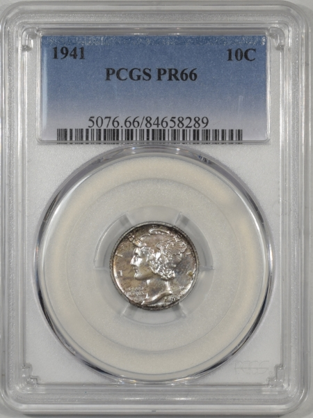 Mercury Dimes 1941 PROOF MERCURY DIME PCGS PR-66