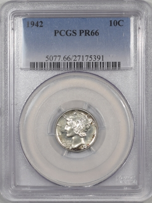 Mercury Dimes 1942 PROOF MERCURY DIME PCGS PR-66