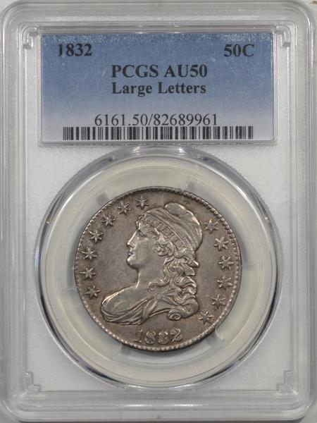 1832-50C-LG-LET-PCGS-AU50-961-1