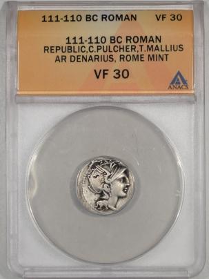 111-110BC-ROMAN-REPUBLIC-AR-DENARIUS-ANACS-VF30-591-1
