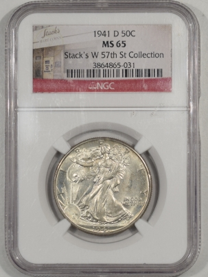 Walking Liberty Halves 1941-D WALKING LIBERTY HALF DOLLAR NGC MS-65 STACKS W 57TH ST COLLECTION