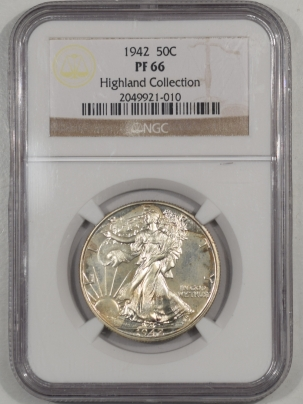 Walking Liberty Halves 1942 PROOF WALKING LIBERTY HALF DOLLAR NGC PF-66