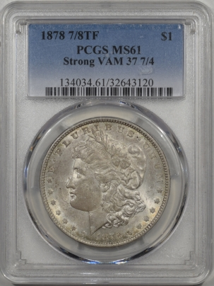 1878-78TF-$1-STRONG-VAM37-PCGS-MS61-120-1