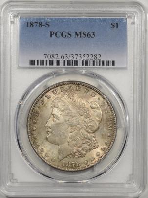 Morgan Dollars 1878-S MORGAN DOLLAR PCGS MS-63