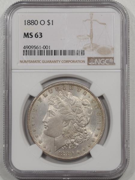 Morgan Dollars 1880-O MORGAN DOLLAR NGC MS-63