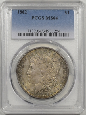 Morgan Dollars 1882 MORGAN DOLLAR PCGS MS-64