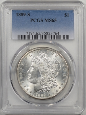 Morgan Dollars 1889-S MORGAN DOLLAR PCGS MS-65