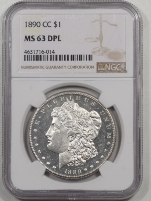Morgan Dollars 1890-CC MORGAN DOLLAR NGC MS-63 DPL