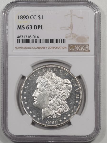 Morgan Dollars 1890-CC MORGAN DOLLAR NGC MS-63 DPL