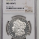 Morgan Dollars 1890-O MORGAN DOLLAR PCGS MS-64 PREMIUM QUALITY!