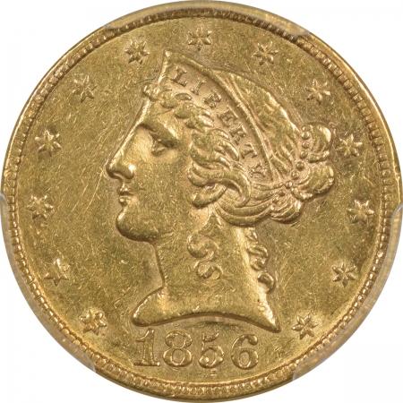 1856-$5G-PCGS-AU53-738-2