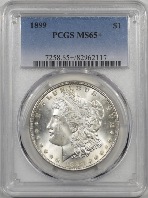 Morgan Dollars 1899 MORGAN DOLLAR PCGS MS-65+ SUPERB GEM