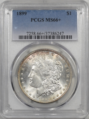 Morgan Dollars 1899 MORGAN DOLLAR PCGS MS-66+