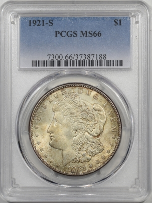 Morgan Dollars 1921-S MORGAN DOLLAR PCGS MS-66