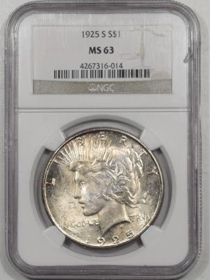 Peace Dollars 1925-S PEACE DOLLAR NGC MS-63