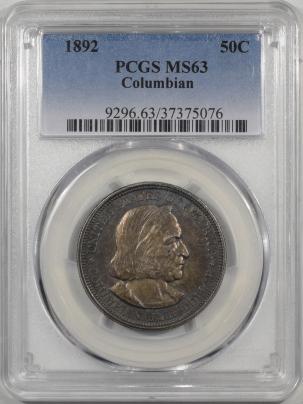 1892-COLUMBIAN-50C-PCGS-MS63-076-1