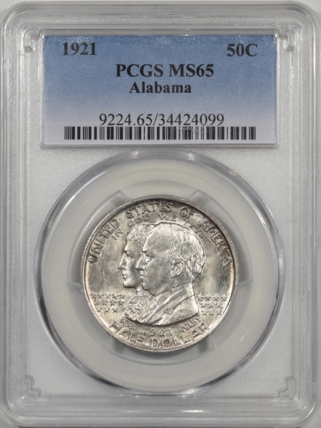 Silver 1921 ALABAMA COMMEMORATIVE HALF DOLLAR PCGS MS-65