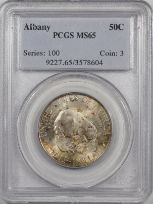 Silver 1936 ALBANY COMMEMORATIVE HALF DOLLAR PCGS MS-65