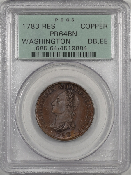 1783-RES-COPPER-WASHINGTON-PCGS-PR64BN-884-1