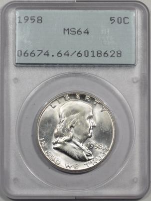 1958-50C-PCGS-MS64-628-1
